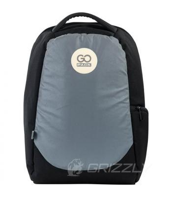 Рюкзак городской GoPack Сity черный-серый GO21-169L-2