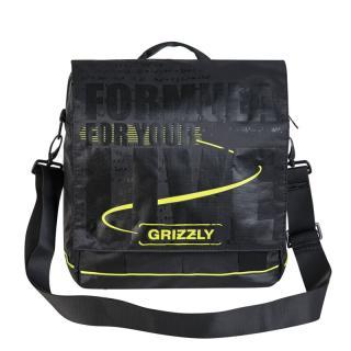 Молодежная сумка Grizzly MM-341-1 черный-салатовый