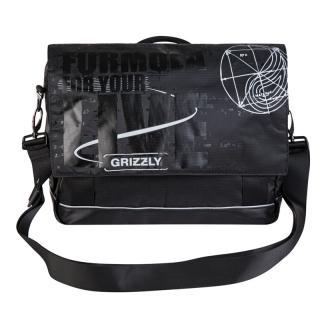 Молодежная сумка Grizzly MM-341-2 black-silver