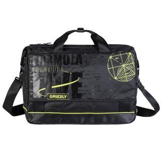 Молодежная сумка Grizzly MM-341-3 черный-салатовый