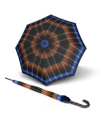 Зонт Knirps T.703 Ingrid Blue полуавто трость 8 спиц Kn96 3703 8389