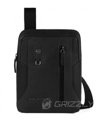 Мужская сумка через плечо Piquadro HAKONE Чёрная CA1816S104_N