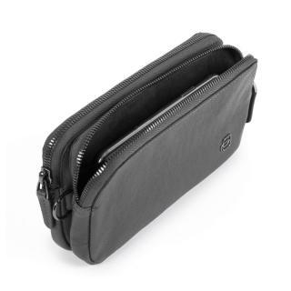 Борсетка с RFID защитой Piquadro BK SQUARE Чёрная AC5187B3R_N