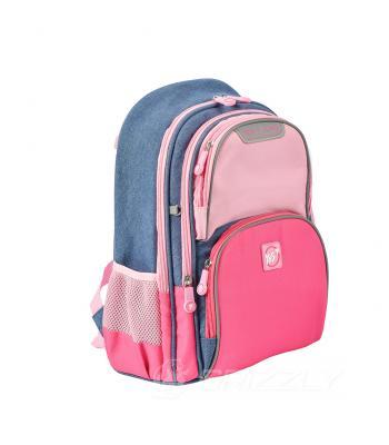 Рюкзак школьный YES S-30 Juno Girls style розовый/голубой 558444