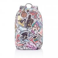 """Рюкзак-антивор подростковый Bobby Soft Art Anti-Theft Backpack 15"""" Graffiti P705.868"""