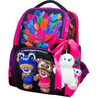 Школьный комплект DeLune - ранец, мешок, игрушка 11-027
