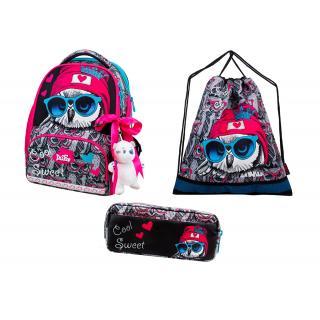 Школьный комплект DeLune - ранец, мешок, пенал, игрушка 10-003