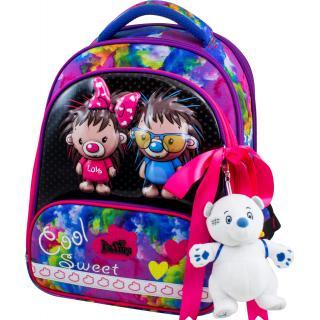 Школьный комплект DeLune - ранец, мешок, пенал, игрушка 9-125