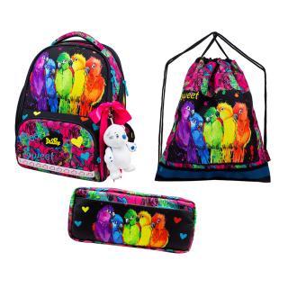 Школьный комплект DeLune - ранец, мешок, пенал, игрушка 10-004