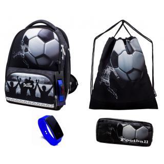 Школьный комплект DeLune - ранец, мешок, пенал, часы 10-006