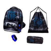 Школьный комплект DeLune - ранец, мешок, пенал, часы 10-007