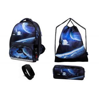 Школьный комплект DeLune - ранец, мешок, пенал, часы 10-008