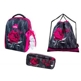 Школьный комплект DeLune - ранец, мешок, пенал, игрушка 7-149