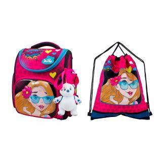 Школьный комплект DeLune - ранец, мешок, игрушка 3-174
