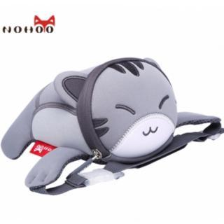 Детская сумочка на пояс Nohoo Серый котик NHY006