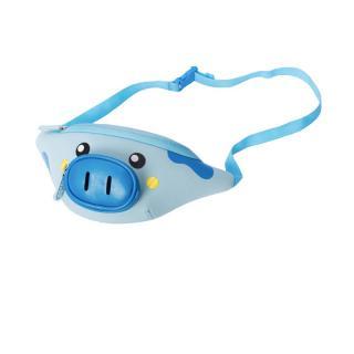 Детская сумочка на пояс Nohoo Пятачок голубая NHY010-2