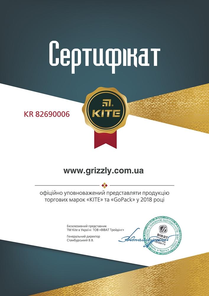 Сертификат Kite | GoPack 2018